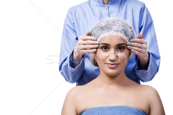 пластическая хирургия изолированный белый девушки рук Сток-фото © Elnur
