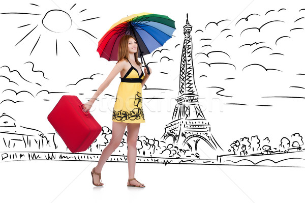 Young woman travelling to Paris Stock photo © Elnur