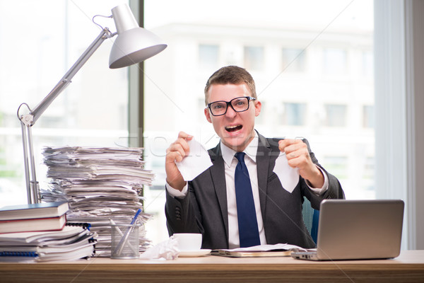 üzletember dolgozik papírmunka üzlet férfi öltöny Stock fotó © Elnur