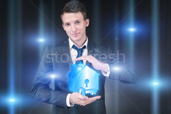 小さな ハンサム ビジネスマン 住宅ローン ビジネス お金 ストックフォト © Elnur