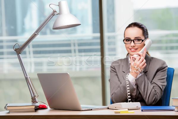 コールセンター 演算子 作業 デスク コンピュータ 電話 ストックフォト © Elnur