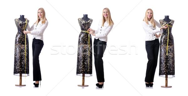 женщины портной изолированный белый женщину моде Сток-фото © Elnur