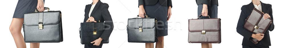 Maletín mujer de negocios negocios oficina sonrisa Foto stock © Elnur