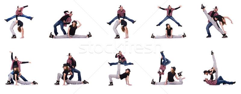 Сток-фото: пару · танцоры · танцы · современных · женщину · человека