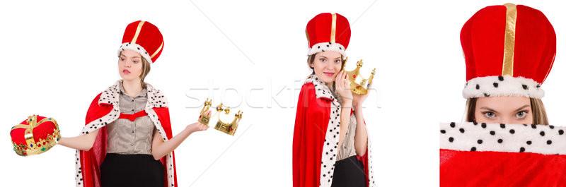 Mulher empresária rainha isolado branco escritório Foto stock © Elnur