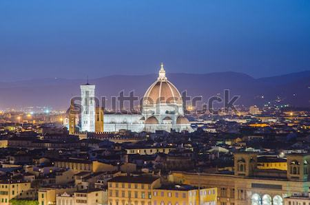 Nice view of florence during evening hours Stock photo © Elnur