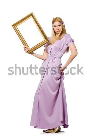 Femme orientale robe isolé blanche fille Photo stock © Elnur