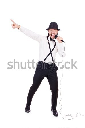 Prisioneiro polícia isolado branco sexo pistola Foto stock © Elnur