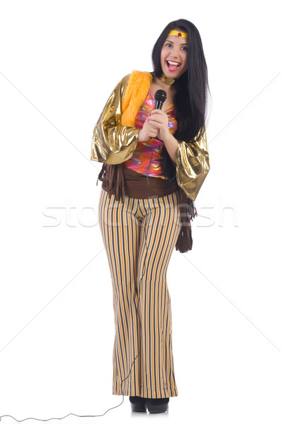 Mujer espanol ropa fiesta pelo fondo Foto stock © Elnur