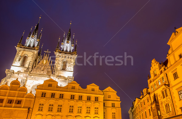Stok fotoğraf: Towers · kare · Prag · gökyüzü · şehir