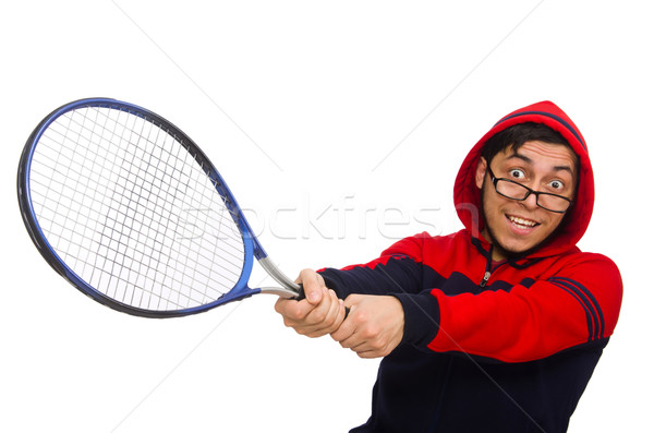 Young man wearing sport costume isolated on white Stock photo © Elnur