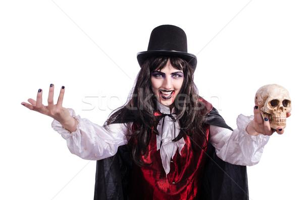 Szatan halloween odizolowany biały uśmiech noc Zdjęcia stock © Elnur