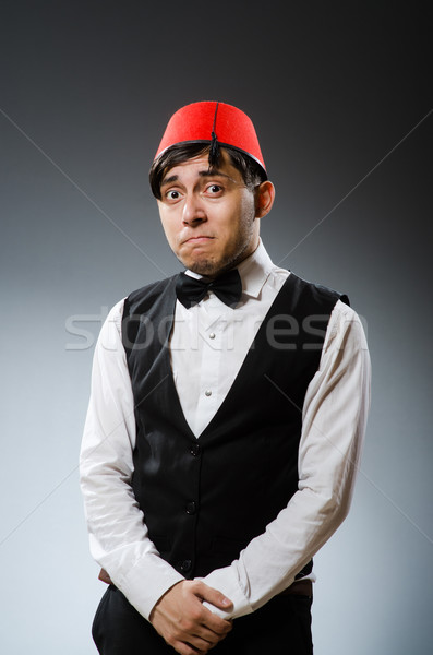 Man traditioneel turks hoed glimlach Stockfoto © Elnur