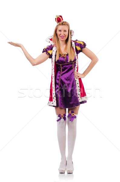 Königin Kleid isoliert weiß Frau Anzug Stock foto © Elnur