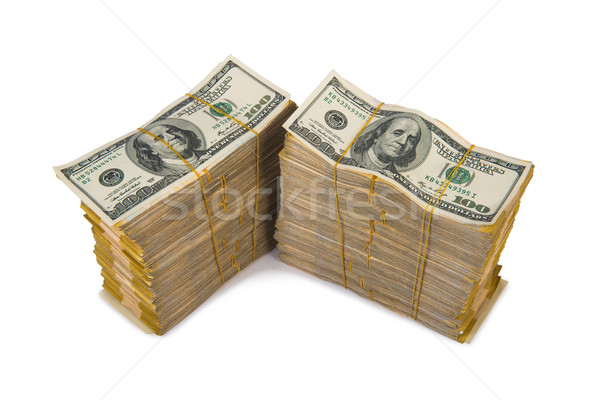 American dollar stack isolated on the white Stock photo © Elnur