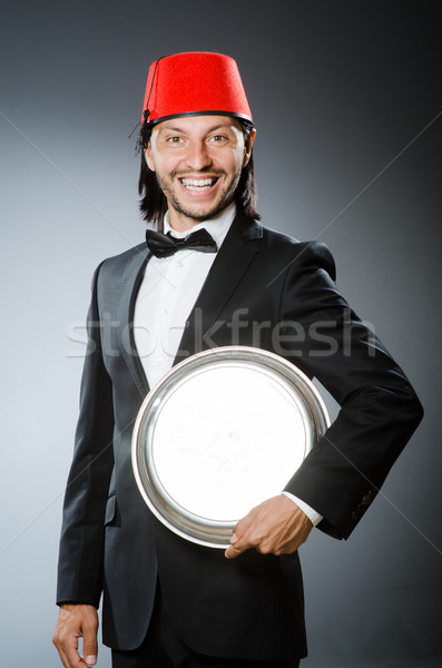 Waiter wearing traditional turkish hat  Stock photo © Elnur