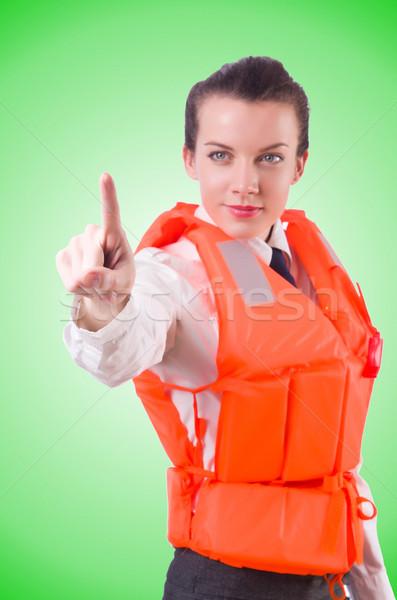 Nő mellény kisajtolás virtuális gombok számítógép Stock fotó © Elnur