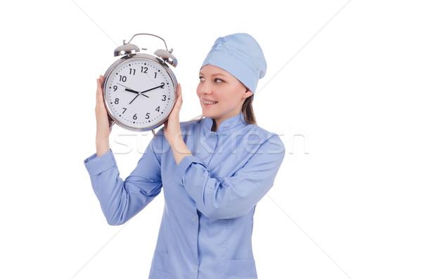 Woman doctor missing her deadlines Stock photo © Elnur