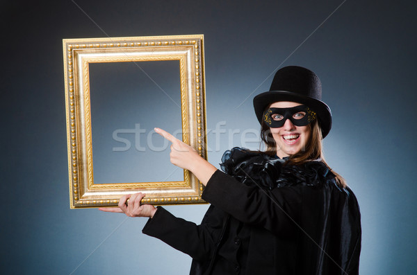 Woman wearing mask in art concept Stock photo © Elnur