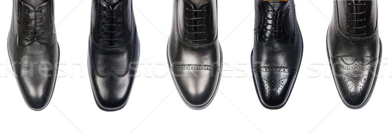 мужчины обувь изолированный белый моде ног Сток-фото © Elnur