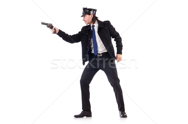 Police officer isolated on white Stock photo © Elnur