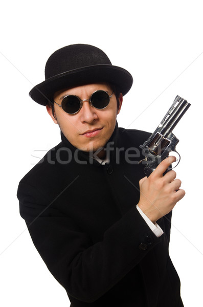Genç tabanca yalıtılmış beyaz el adam Stok fotoğraf © Elnur