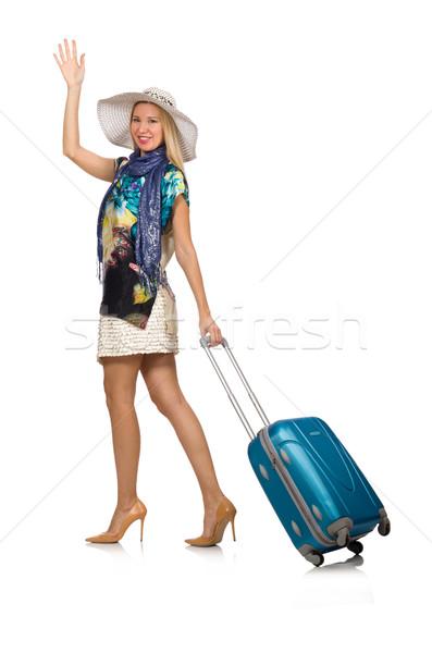 Kadın yaz tatili yalıtılmış beyaz kız eller Stok fotoğraf © Elnur