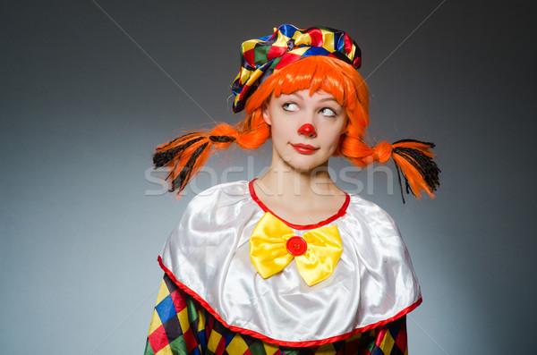 Clown grappig donkere gelukkig leuk Rood Stockfoto © Elnur