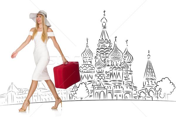 Junge Mädchen Tourismus Russland Mädchen glücklich Mode Stock foto © Elnur