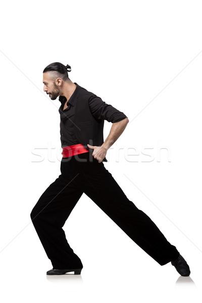 Man dancer dancing spanish dances isolated on white Stock photo © Elnur