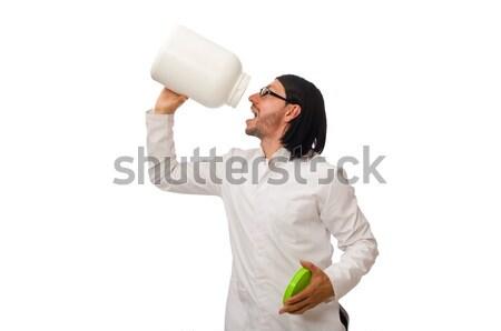 Funny médico proteína aislado blanco médicos Foto stock © Elnur