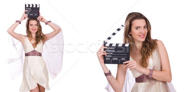древних богиня изолированный белый женщину фильма Сток-фото © Elnur