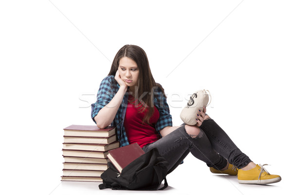 Concept of expensive education with female student Stock photo © Elnur