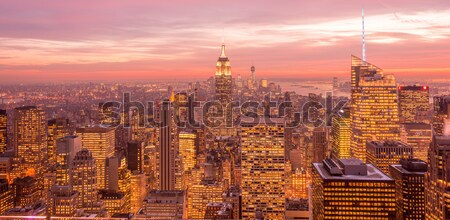 New York - DECEMBER 20, 2013: View of Lower Manhattan on Decembe Stock photo © Elnur