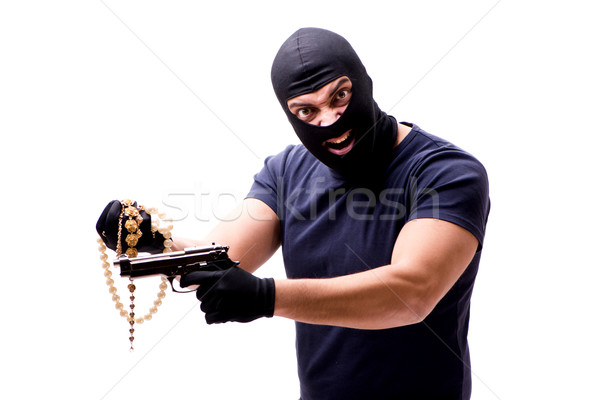 Rabló visel izolált fehér otthon biztonság Stock fotó © Elnur
