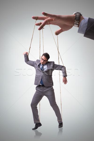 Empresário fantoche manipulado patrão negócio homem Foto stock © Elnur