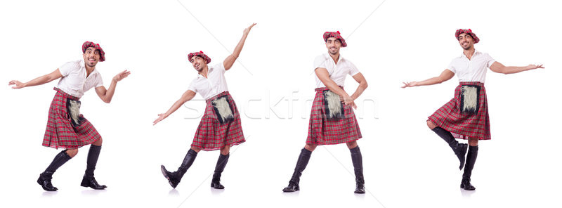 The scottish traditions concept with person wearing kilt Stock photo © Elnur