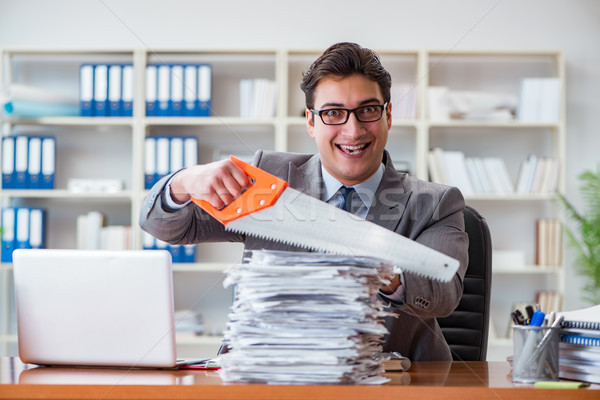 сердиться агрессивный бизнесмен служба работу столе Сток-фото © Elnur
