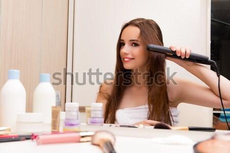 Stockfoto: Jonge · vrouw · schoonheid · make · oog · ogen · portret
