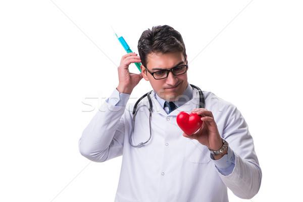 молодые мужчины кардиолог врач сердце Сток-фото © Elnur