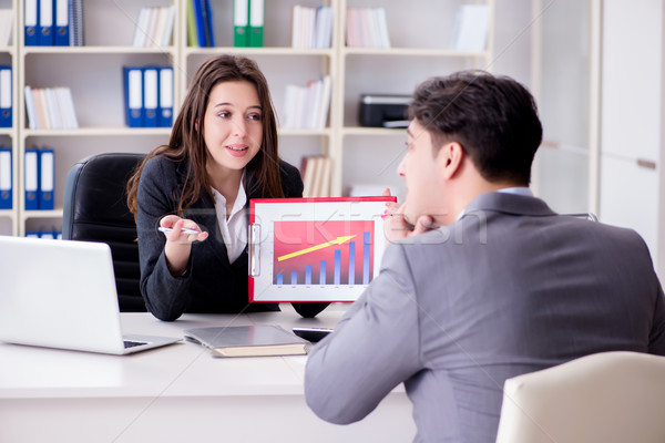 деловое совещание бизнесмен деловая женщина служба улыбка работу Сток-фото © Elnur