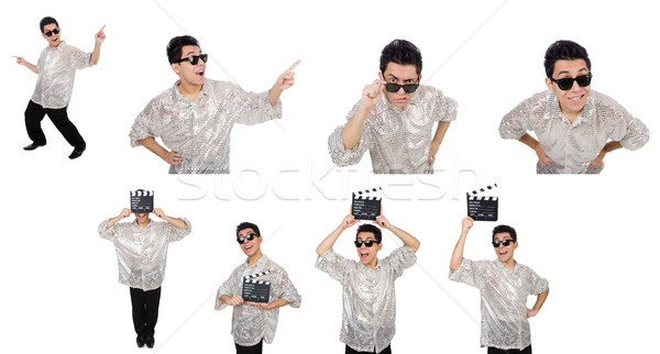 Young man in silver shirt isolated on white Stock photo © Elnur