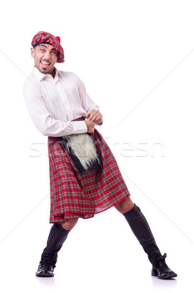 Hombre empujando virtual obstáculo calle bolsa Foto stock © Elnur