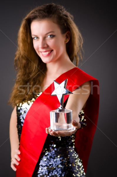Woman winning the beauty contest Stock photo © Elnur