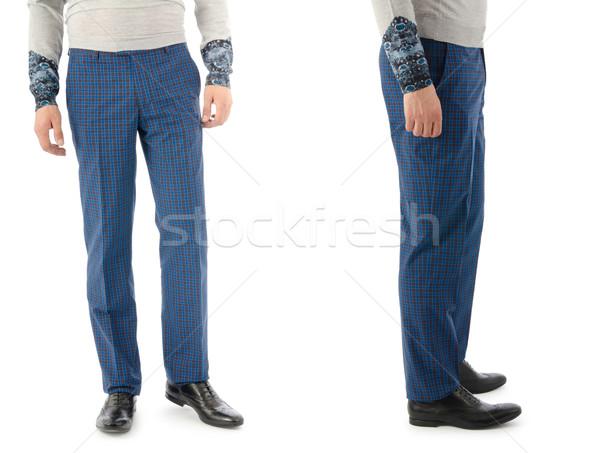 Pantaloni modello isolato uomo blu jeans Foto d'archivio © Elnur