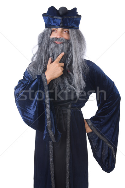 Wizard isolated on the wise background Stock photo © Elnur