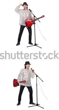 Man in red cover isolated on white Stock photo © Elnur