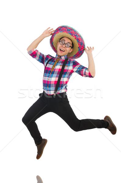Vicces mexikói szombréró buli boldog retro Stock fotó © Elnur