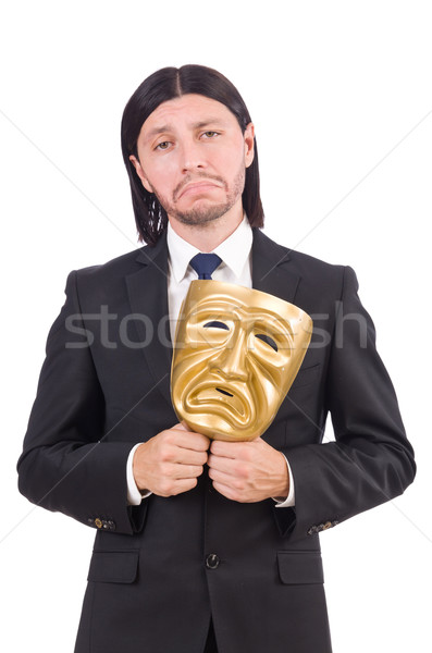 Man with mask isolated on white Stock photo © Elnur