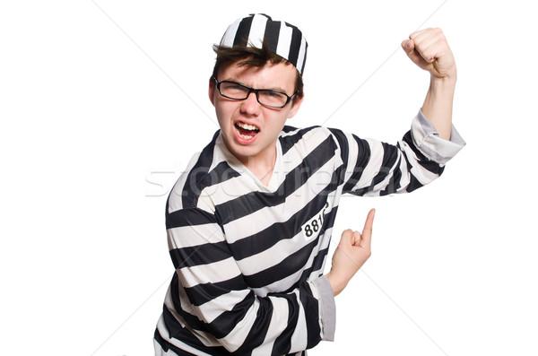 Funny więzienia więzień prawa policji sprawiedliwości Zdjęcia stock © Elnur